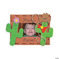 Foam Western Picture Frame Magnet Craft Kit