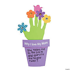 "Foam ""Why I Love My Mother"" Handprint Craft Kit"