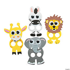 Foam Wiggle Eye Safari Finger Puppets Craft Kit