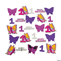 Foil And Paper 1st Birthday Butterfly Confetti