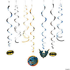 Foil Batman Hanging Swirl Decorations Value Pack