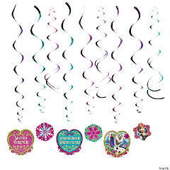 Foil Disney's Frozen Hanging Swirl Decorations - 12 Pc.