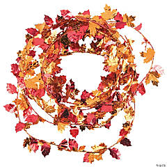 Foil Fall Leaves Garland