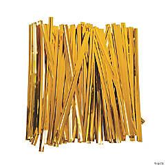 Foil Gold Metallic Twist Ties