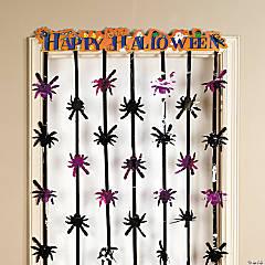 """Foil """"Happy Halloween"""" Door Curtain"""