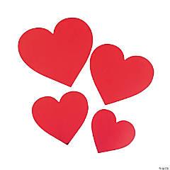 Foil Heart Cutouts