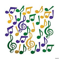 Foil Mardi Gras Music Note Confetti