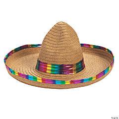 Foil Metallic Rainbow Sombrero
