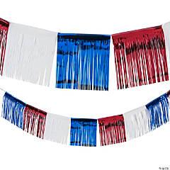 Foil Patriotic Fringe Banner