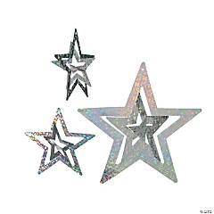 Foil Silver Stars