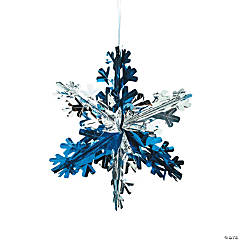 foil snowflake decorations - Christmas Ceiling Decorations