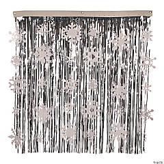 Foil Snowflake Fringe Curtain