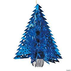 Foil Winter Wonderland Tree Centerpiece