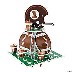 Football Party Treat Stand with Cones