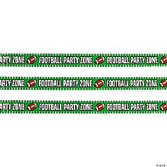 Football Party Zone Plastic Streamer