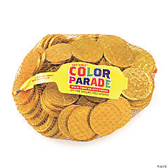 Fort Knox Milk Chocolate 1.5-inch Coins Gold Foil, 1 lb, 2 pack