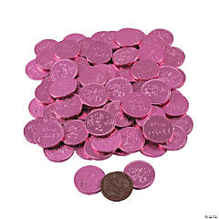 Fort Knox® It's A Girl Pink Chocolate Coins