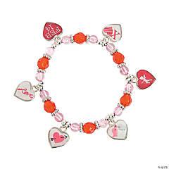 Framed Heart Charm Bracelet Craft Kit