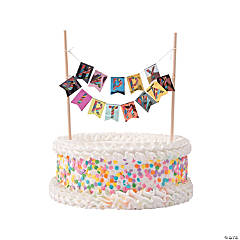 French Bull® Birthday Cake Bunting Topper