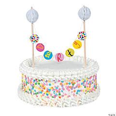 French Bull® Birthday Dots Banner Cake Topper