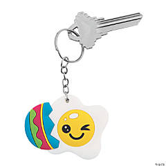 Fried Easter Egg Keychains