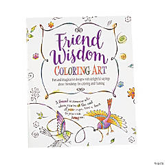 Friend Wisdom Adult Coloring Book