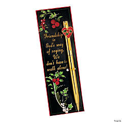 """""""Friendship"""" Religious Holiday Pen & Bookmark Sets"""