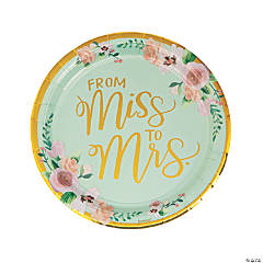 From Miss to Mrs. Dinner Plates