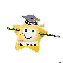 From Your Teacher Graduation Pencil Giveaways with Card - 48 Pc.