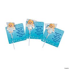 Frosted Angel Lollipops with Card