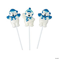 Frosted Polar Bear Lollipops