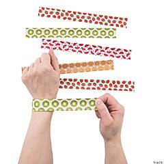 Fruit Print Slap Bracelets