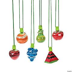 Fruit Sand Art Bottle Necklaces