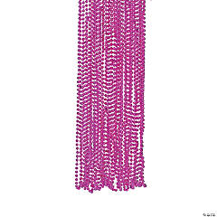 Fuchsia Metallic Beaded Necklaces