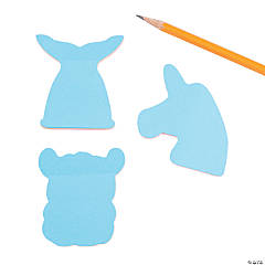 Fun Creature Shapes Sticky Notes