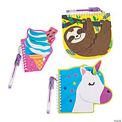 Fun Designs Spiral Notebooks with Pens