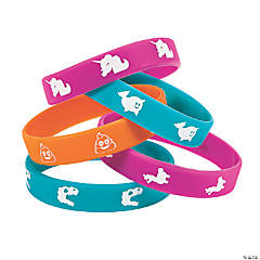 Fun Icons Rubber Bracelet Assortment