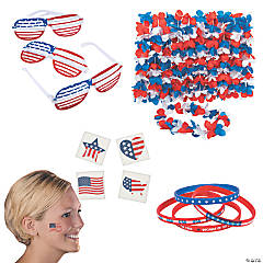 Fun Patriotic Adult Accessories Kit for 12