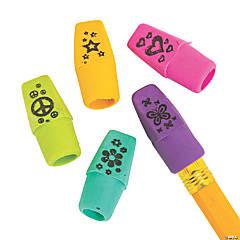 Fun Printed Pencil Top Erasers