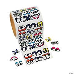 Funky Colored Eye Sticker Rolls- 1005 pcs