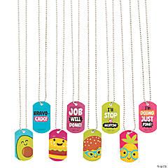 Funtastic Food Friends Dog Tag Necklaces