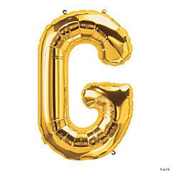 G Gold Letter Mylar Balloon