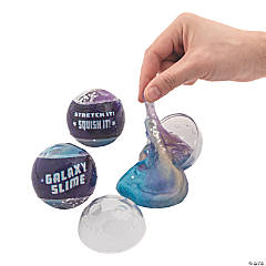 Galaxy Slime-Filled Plastic Easter Eggs - 12 Pc.