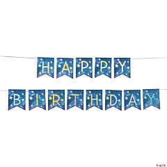 Galaxy Star Happy Birthday Banner