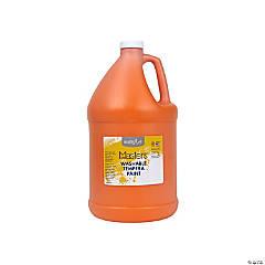 Gallon Washable Orange Tempera Paint