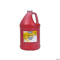 Gallon Washable Red Tempera Paint
