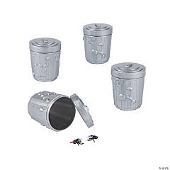 Garbage Can Toy-Filled Plastic Easter Eggs - 12 Pc.