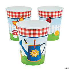 Garden Birthday Party Cups