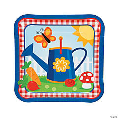 Garden Birthday Party Dinner Plates