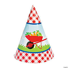 Garden Party Birthday Cone Hats